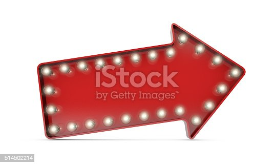 istock Showbiz cinema movie theatre illuminated arrow 514502214