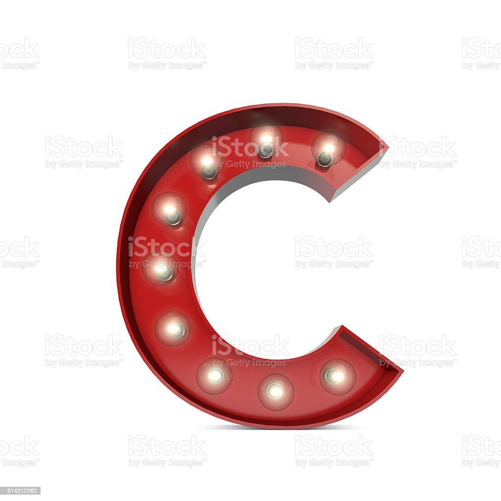 Incroyable Showbiz Cinema Movie Theatre Illuminated Letter C Stock Photo