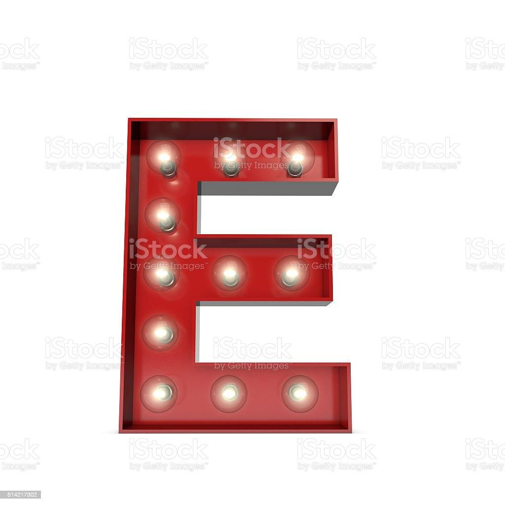 Beau Showbiz Cinema Movie Theatre Illuminated Letter E Stock Photo