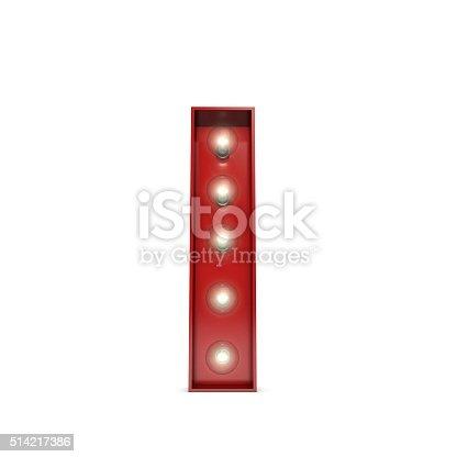 istock Showbiz cinema movie theatre illuminated letter I 514217386