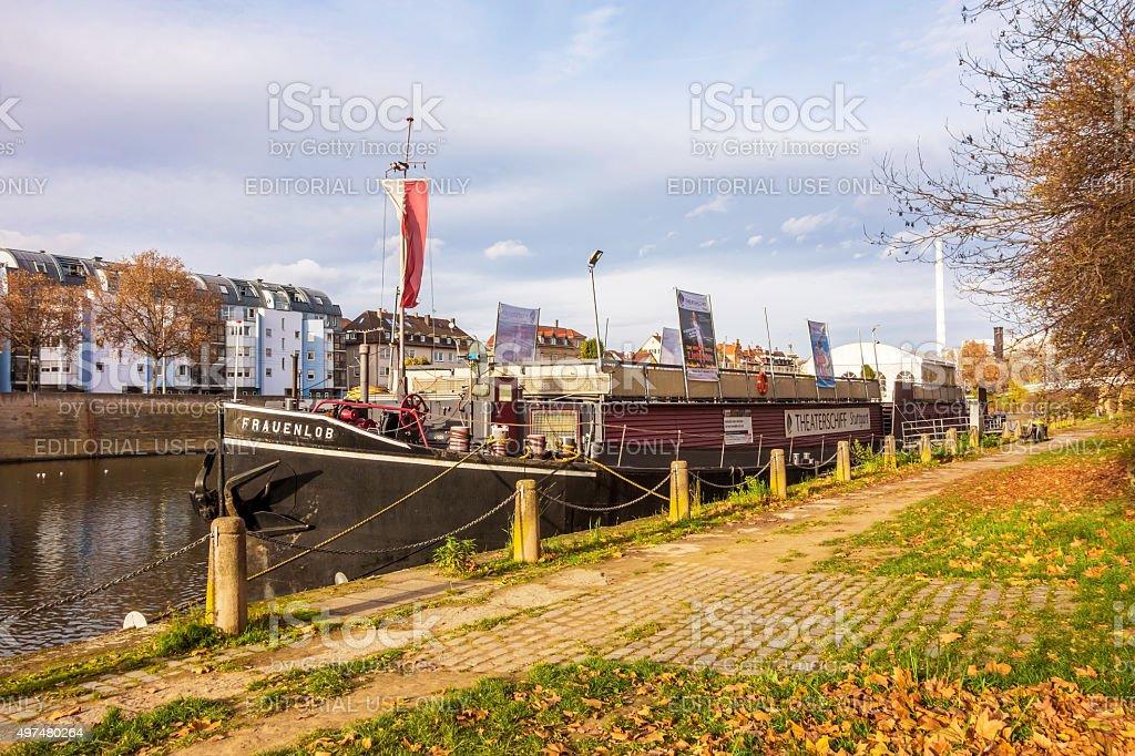 Showboat Theaterschiff Stuttgart/Frauenlob-Bad Cannstatt, Neckar – Foto