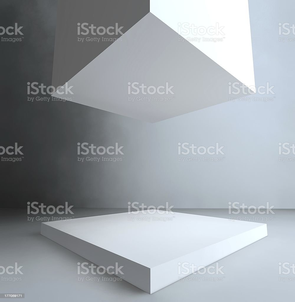 Showcase, 3d exhibition space royalty-free stock photo