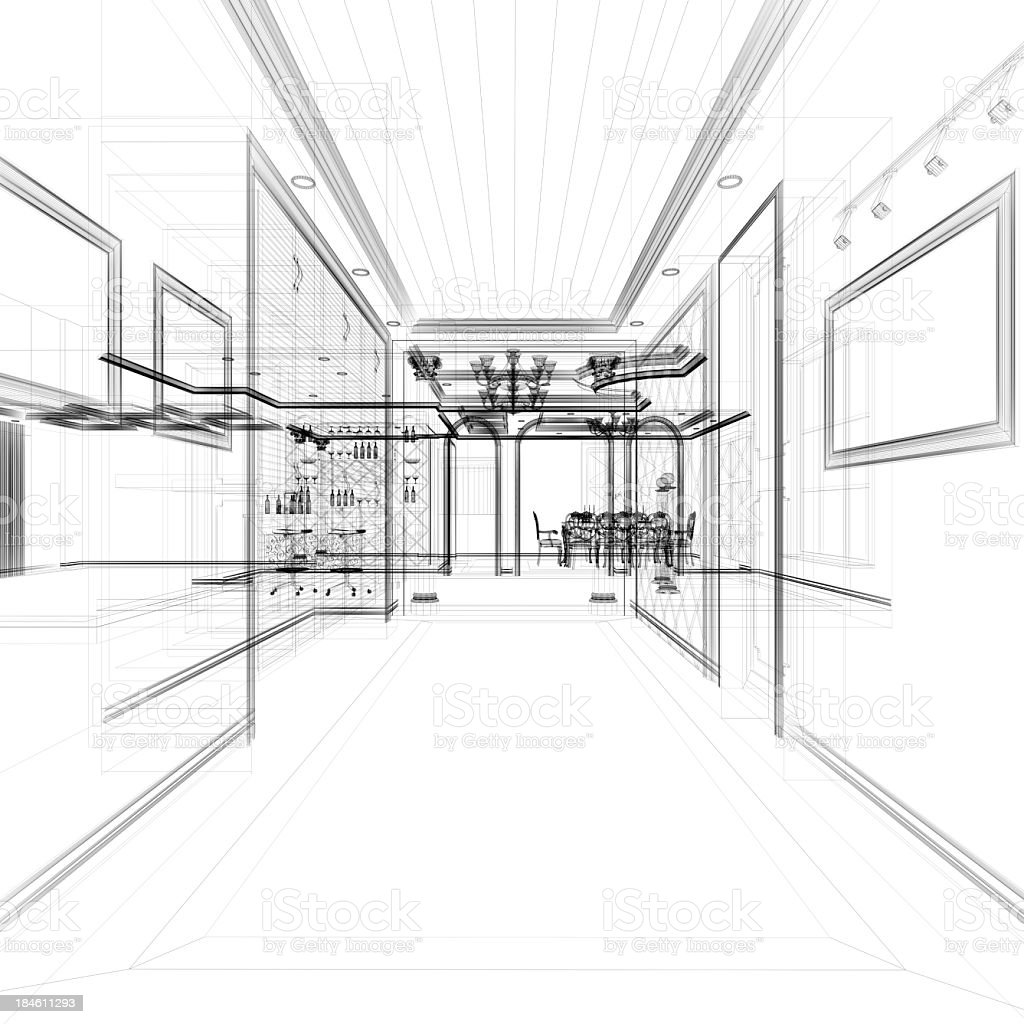 Showcase interior wire frame blueprint stock photo more pictures showcase interior wire frame blueprint royalty free stock photo malvernweather Image collections