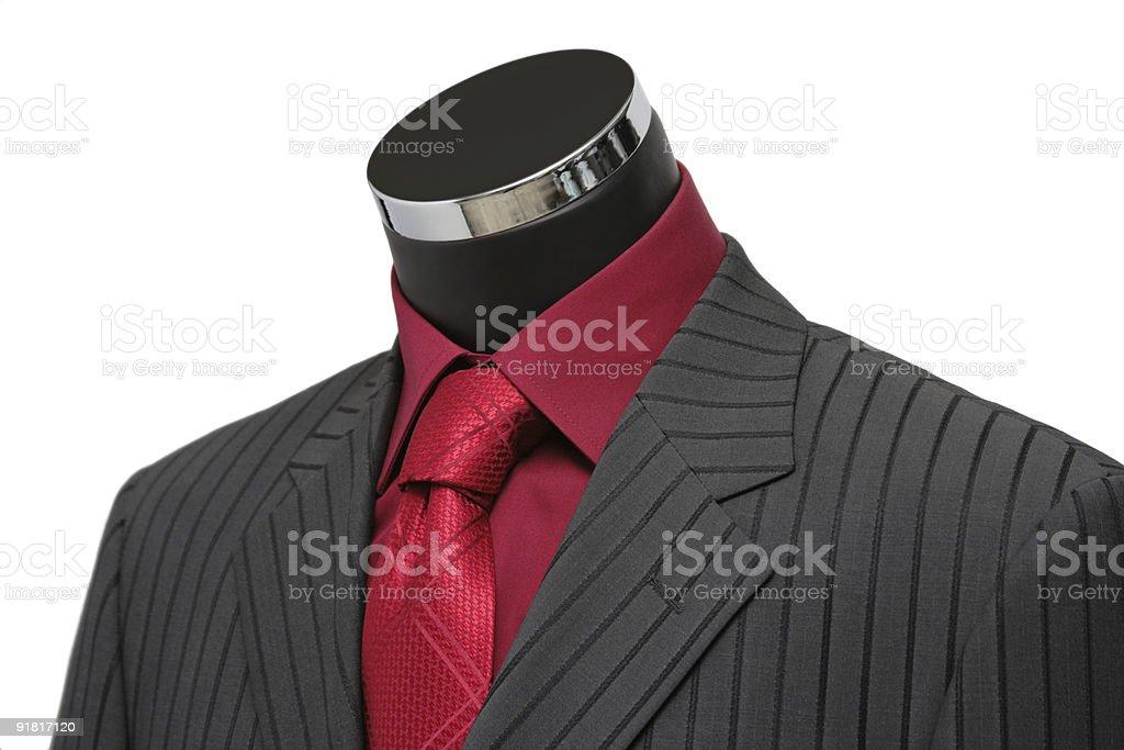 Showcase Mannequin Dressed In Suit stock photo
