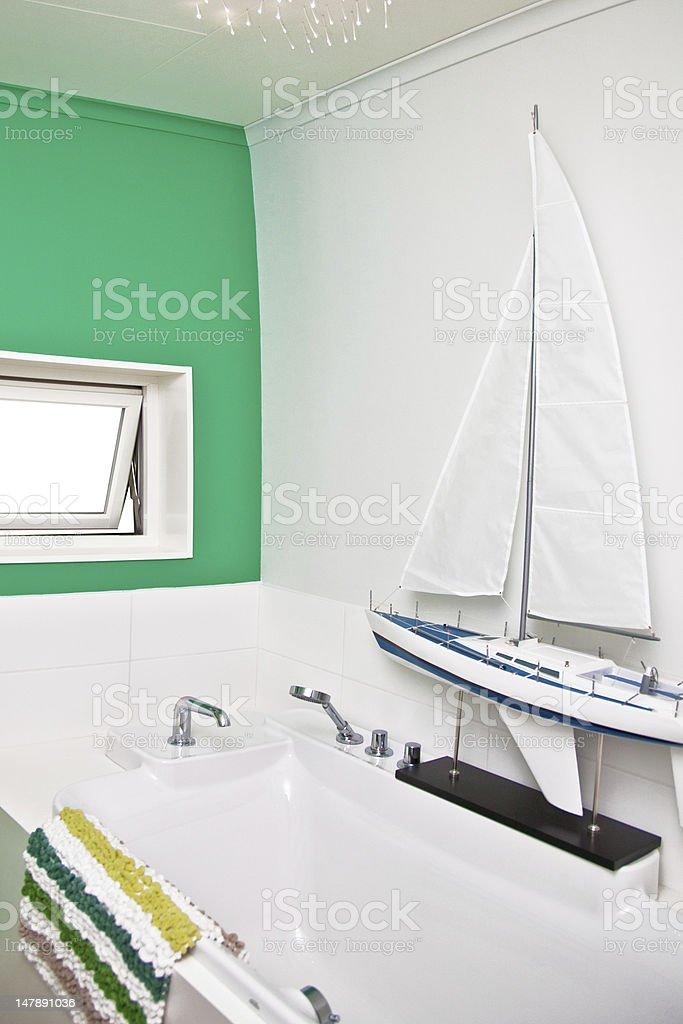 Showcase of bathroom interior royalty-free stock photo
