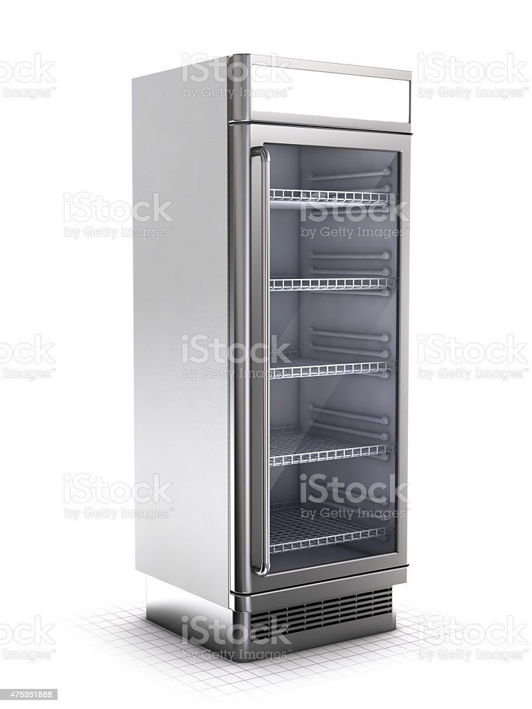 Showcase refrigerator stock photo