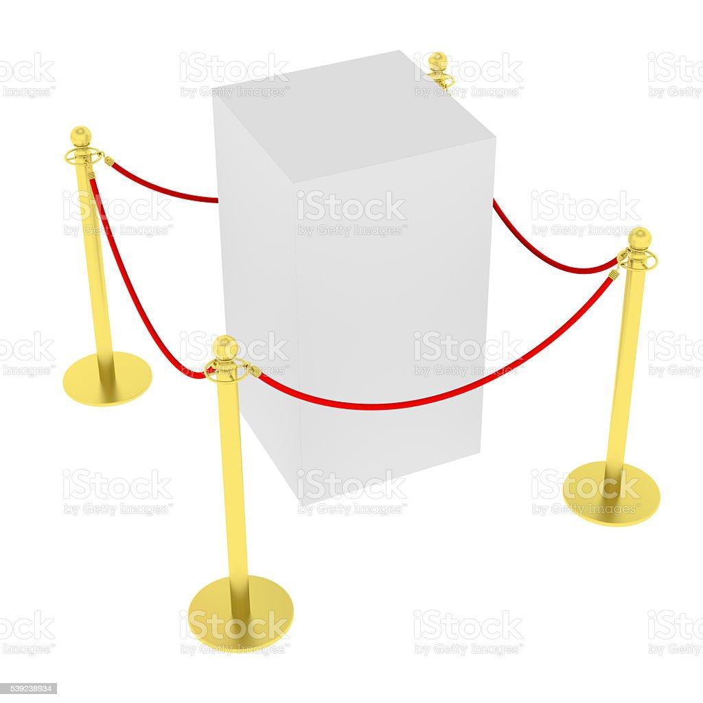 Soporte de exhibición con azulejos de barreras para exposiciones foto de stock libre de derechos