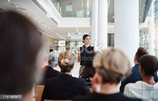 istock Showcasing her professional vision 1141463972