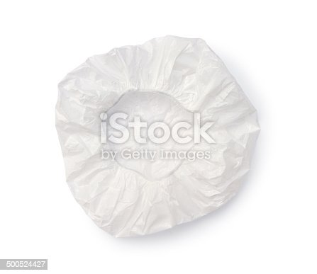 Shower cap (with clipping path) isolated on white background