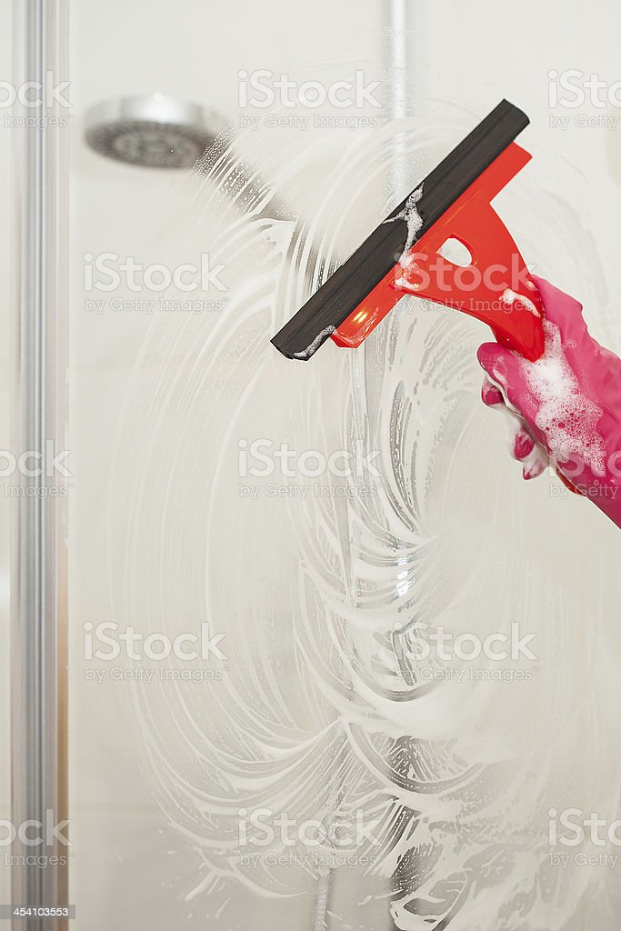 Shower cleaner stock photo
