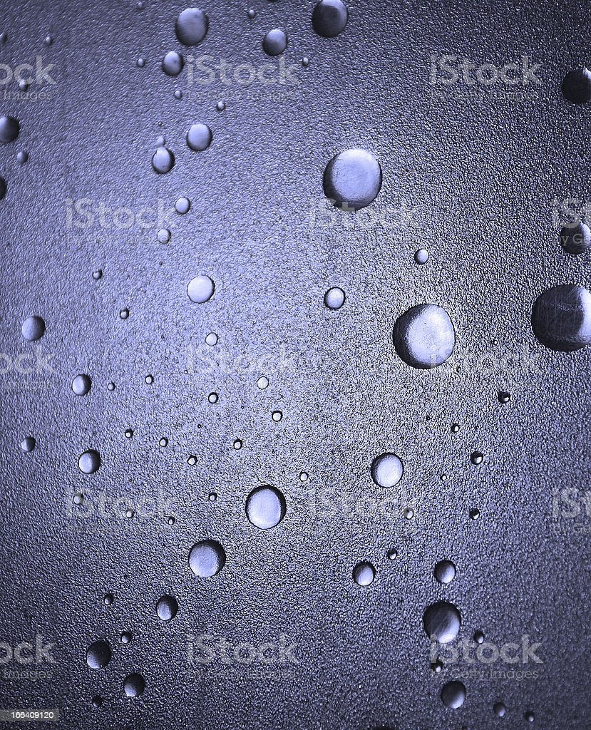 Shower Door Detail - Blue royalty-free stock photo