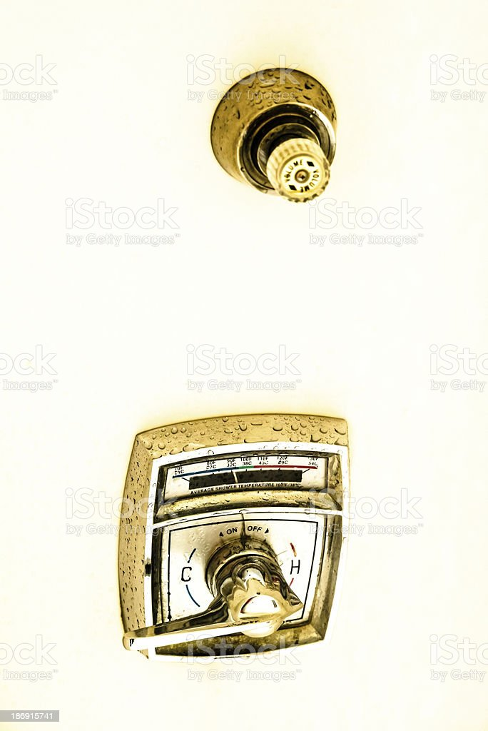 Shower faucet royalty-free stock photo
