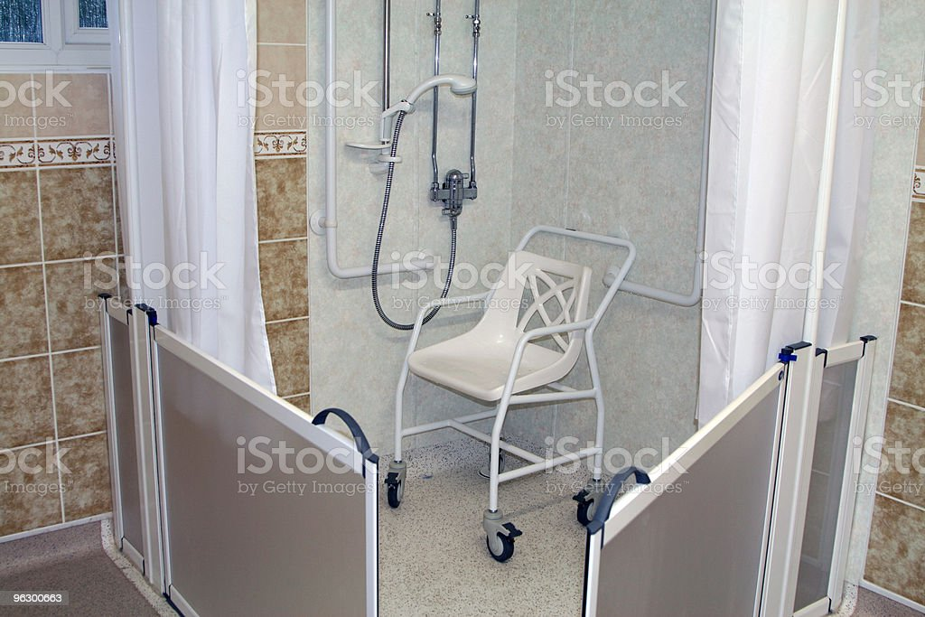 shower for the disabled stock photo