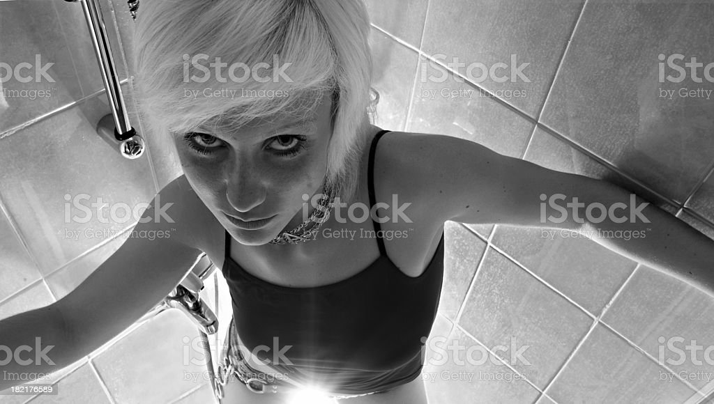 shower girl royalty-free stock photo