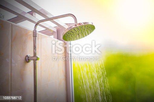istock Shower in bathroom 1033768712