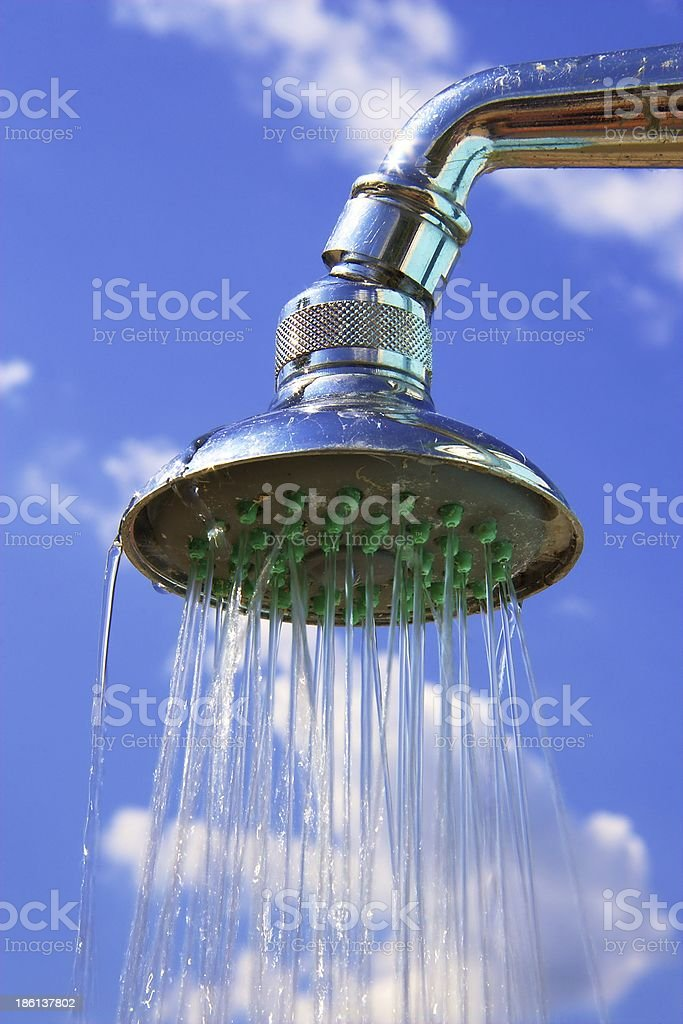 Shower in the sky royalty-free stock photo