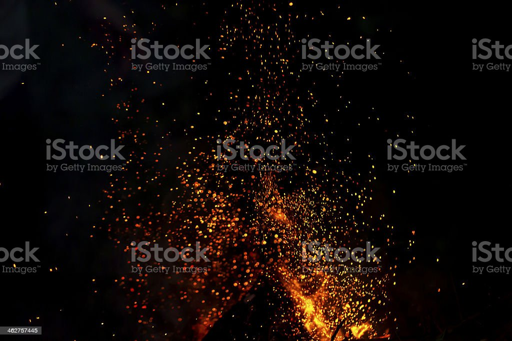 shower of sparks background stock photo