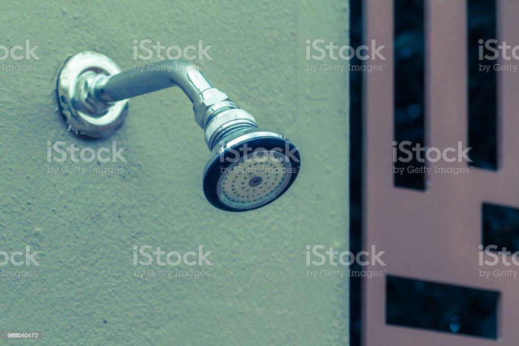 Dusche auf Wand - Lizenzfrei Bach Stock-Foto
