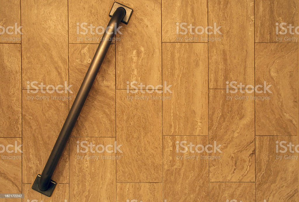 Shower safety bar. stock photo