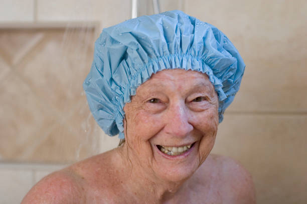 Shower scene stock photo