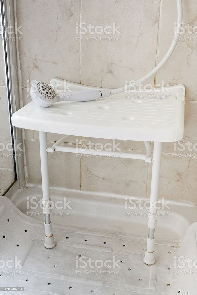 Shower seat royalty-free stock photo
