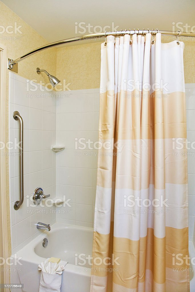 Shower With Curtain stock photo