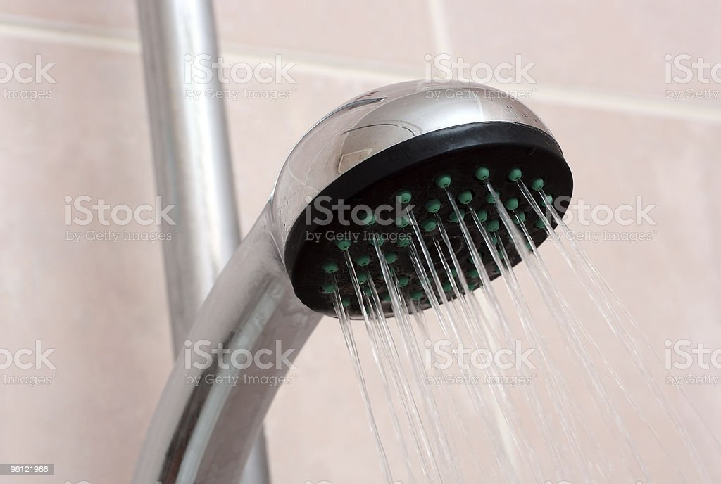 shower with spraying water royalty-free stock photo