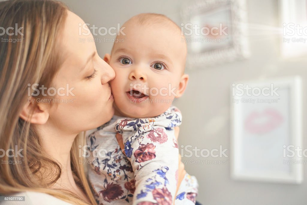 Showered with love and attention stock photo