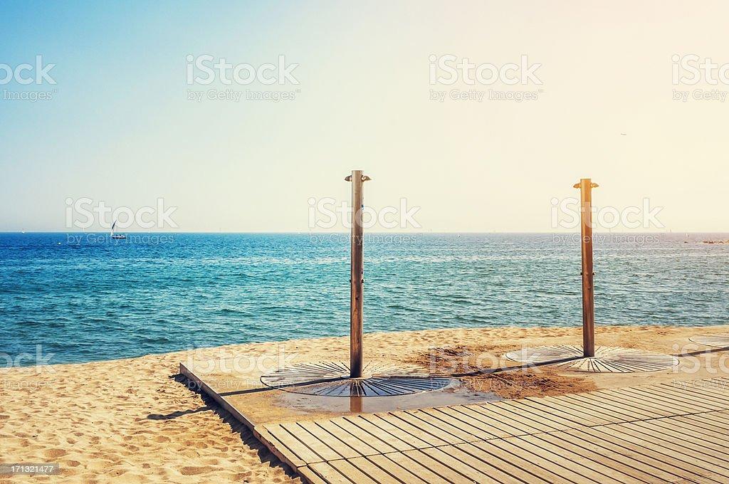 Duschen am Strand von Barcelona – Foto