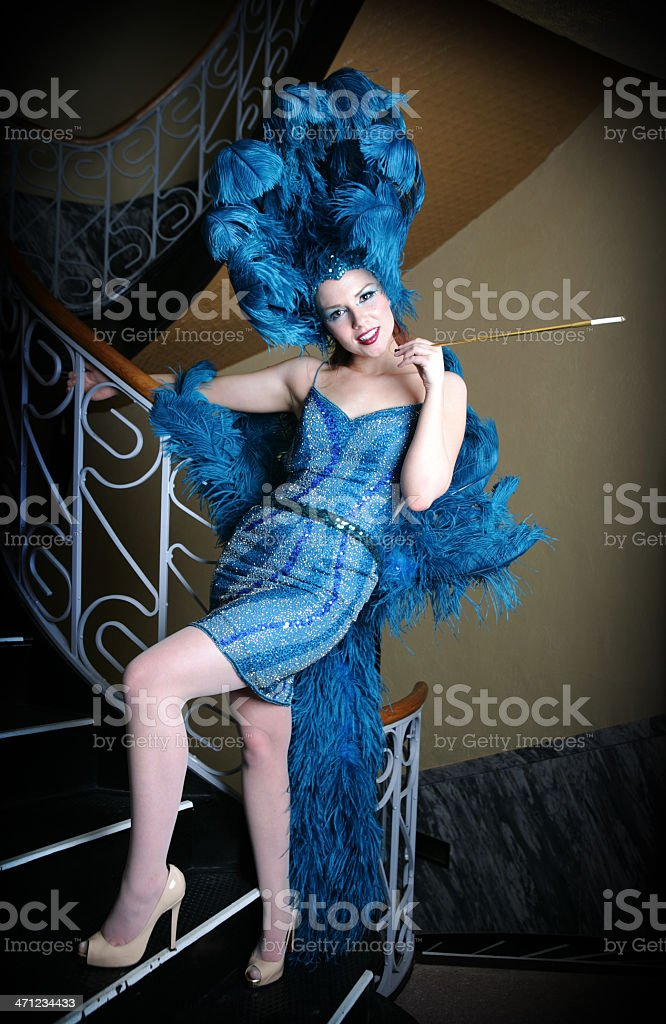 Showgirl stock photo