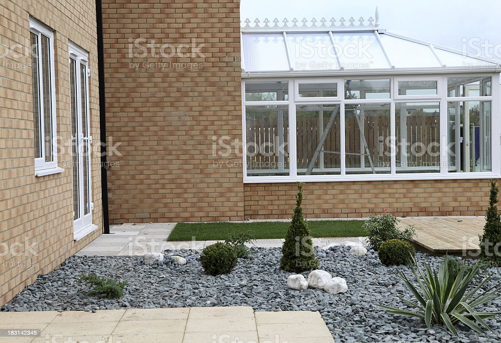 showhome back garden royalty-free stock photo