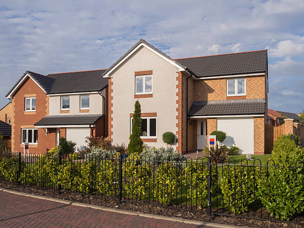 Showhomes on a new housing development. stock photo