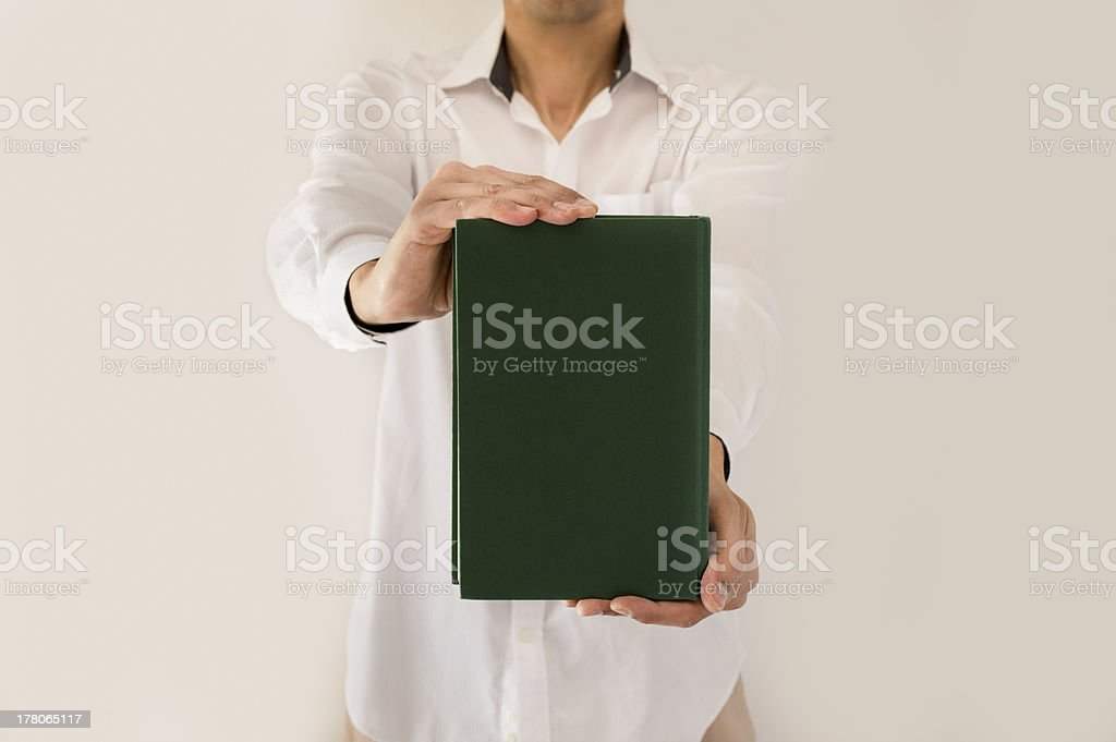 showing a book royalty-free stock photo