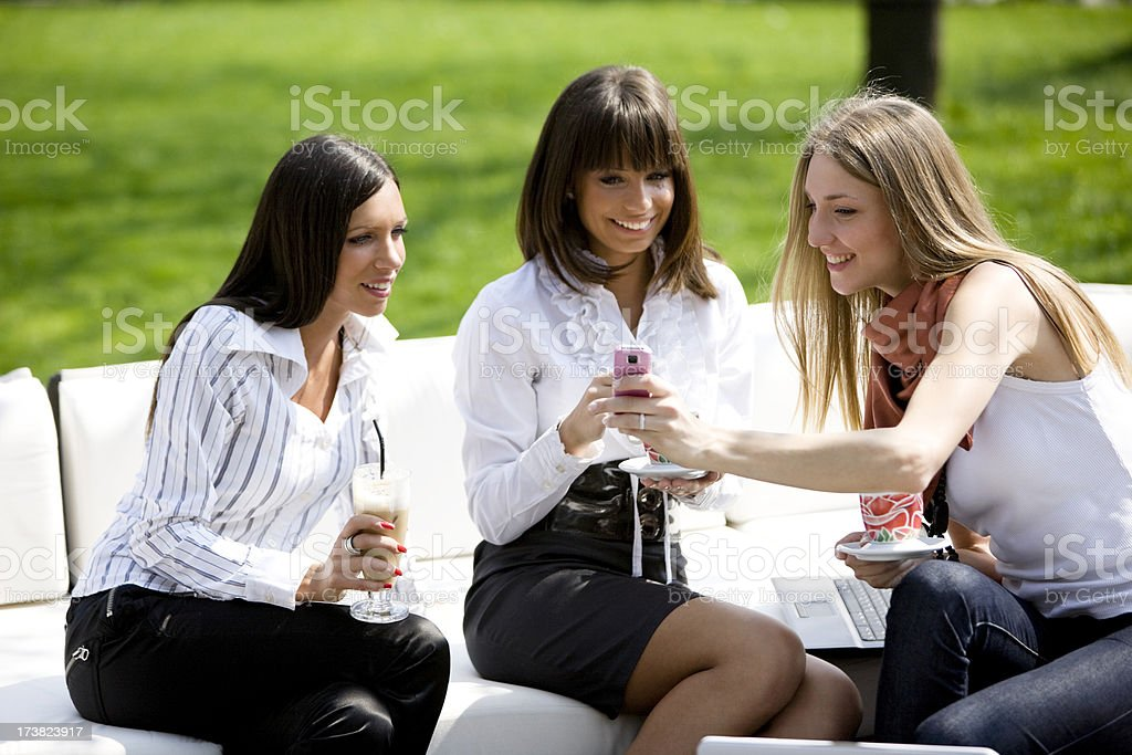 Showing a text message royalty-free stock photo