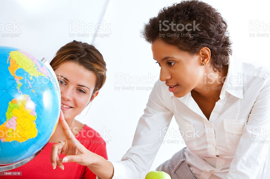 Showing Africa On Globe royalty-free stock photo