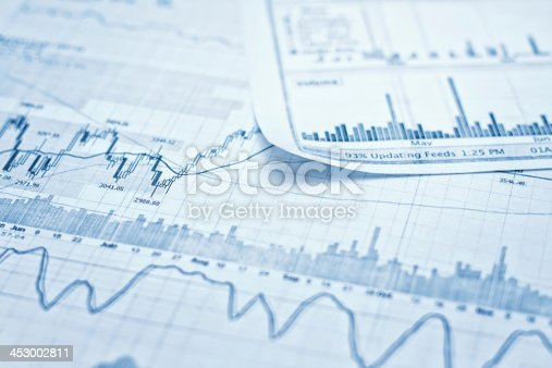 istock Showing business and financial report 453002811