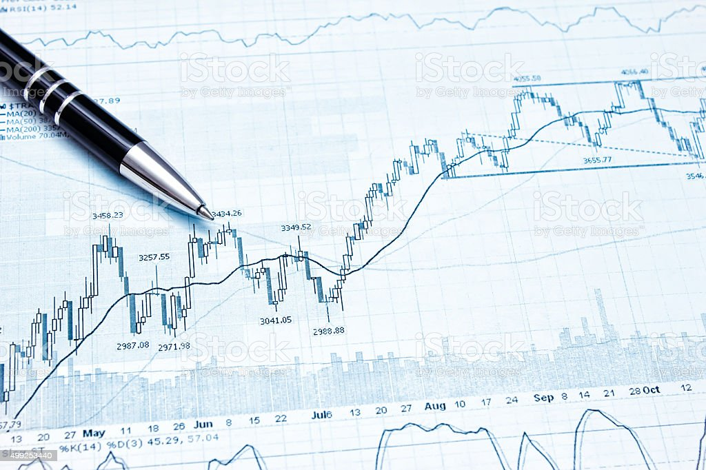 Showing business and financial report Showing business and financial report Showing business and financial report Showing business and financial report 2015 Stock Photo