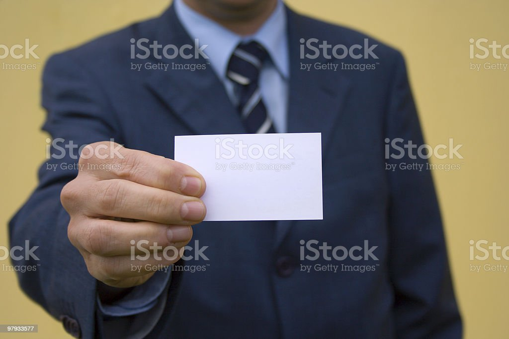Showing Card 1 royalty-free stock photo