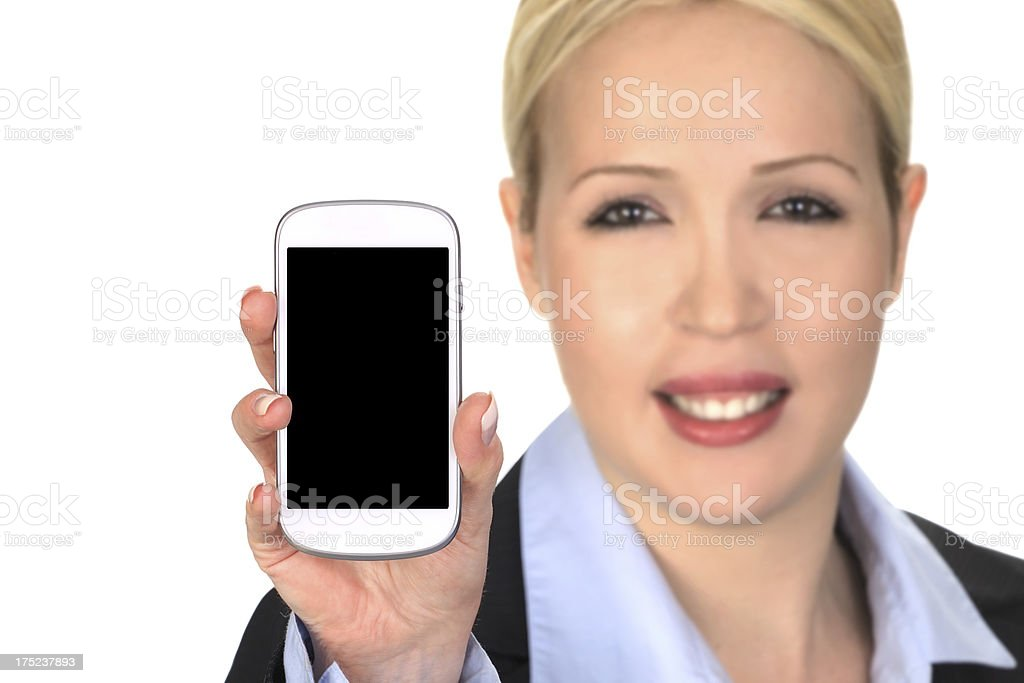 Showing Cellphone royalty-free stock photo