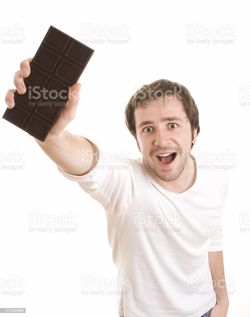 Showing chocolate stock photo