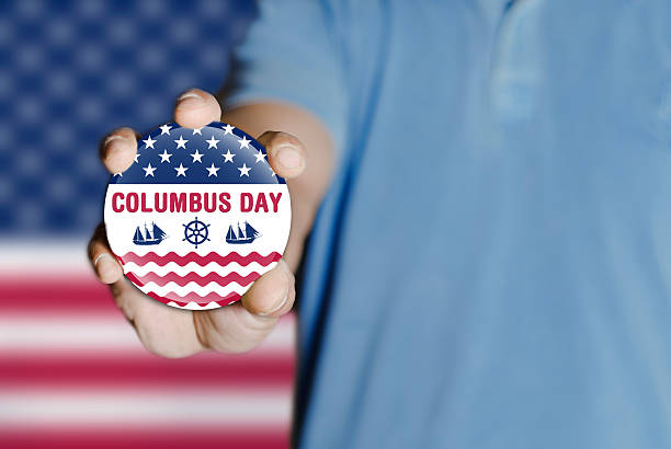 표시중 콜럼버스 일 배지 - columbus day 뉴스 사진 이미지