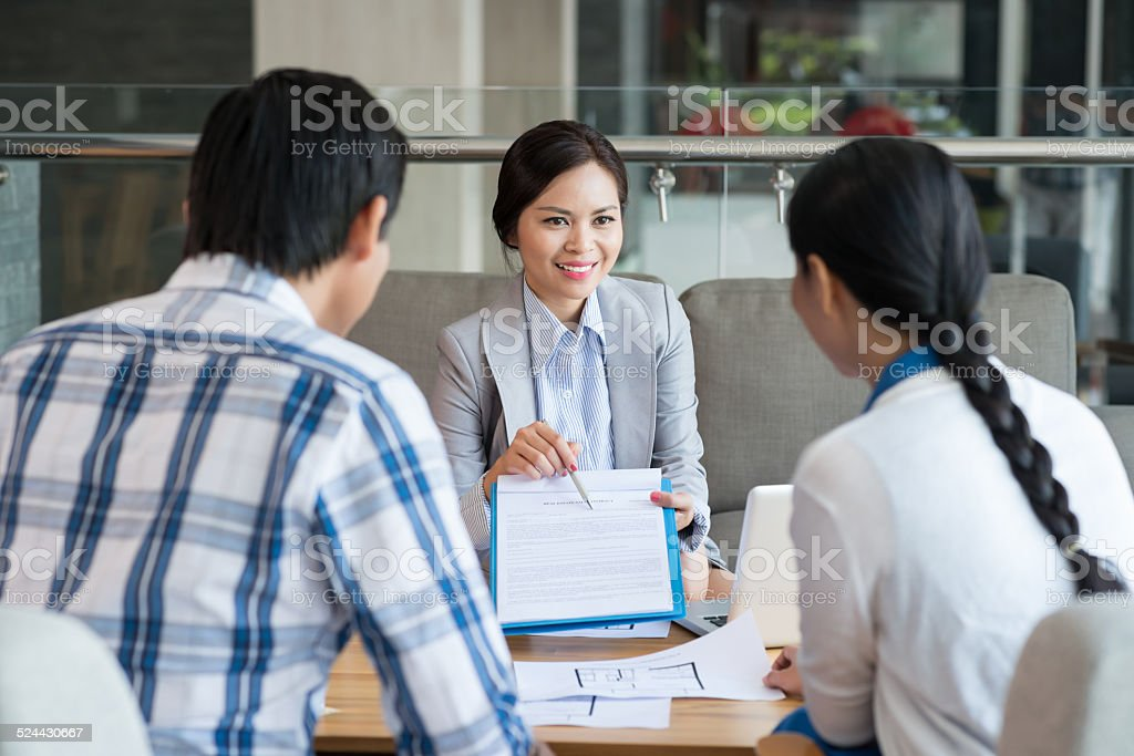Showing contract stock photo