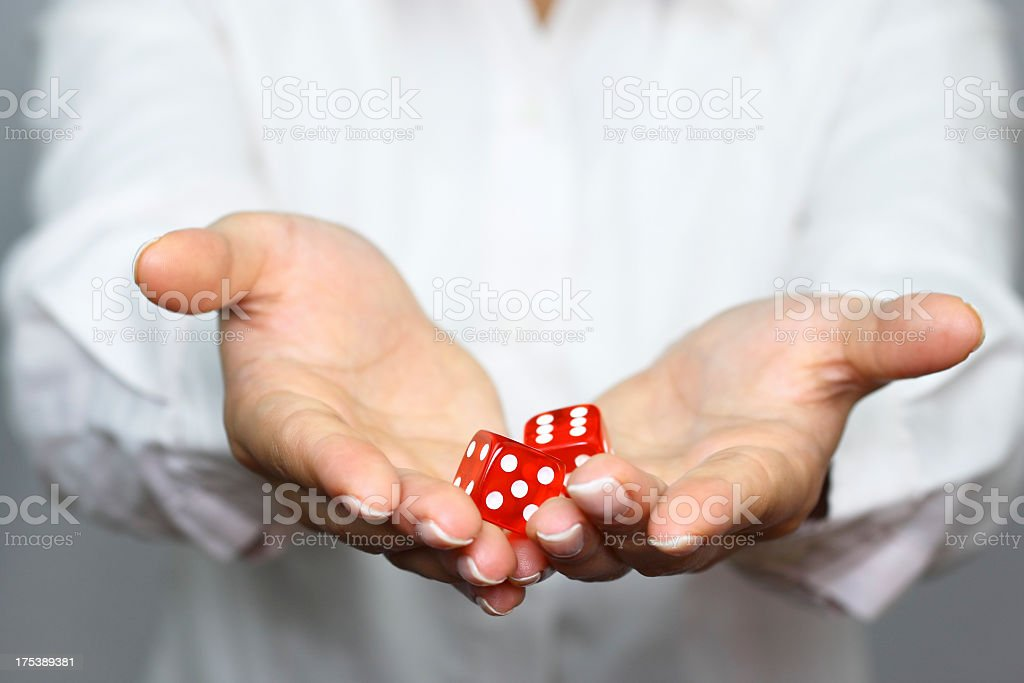 Showing dices stock photo