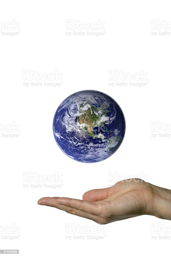 Showing Earth (north america) royalty-free stock photo