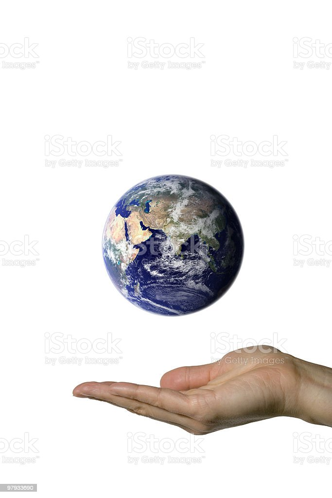 Showing Earth (Asia) royalty-free stock photo