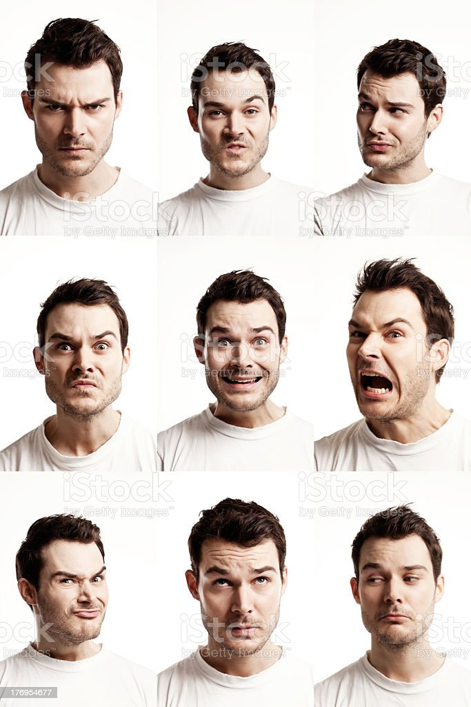 showing expressions royalty-free stock photo