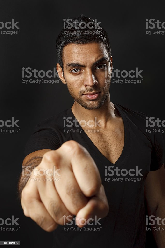 Showing fist royalty-free stock photo