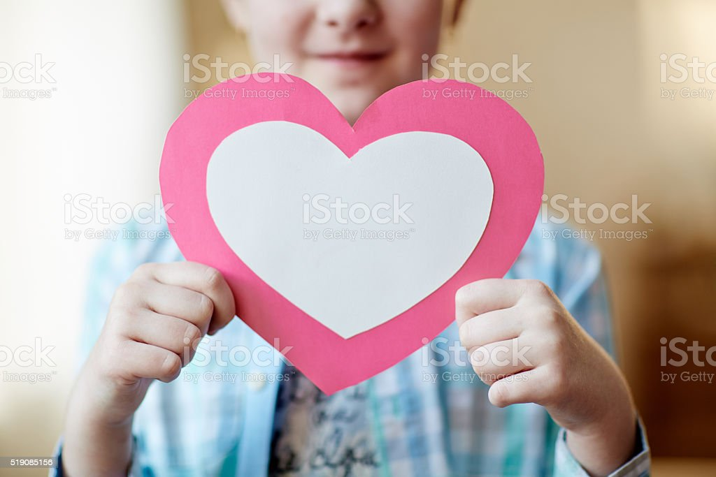 Showing heart stock photo