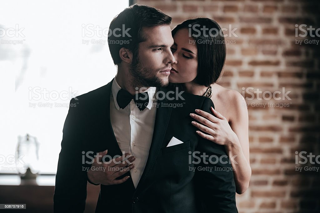Showing her love. stock photo