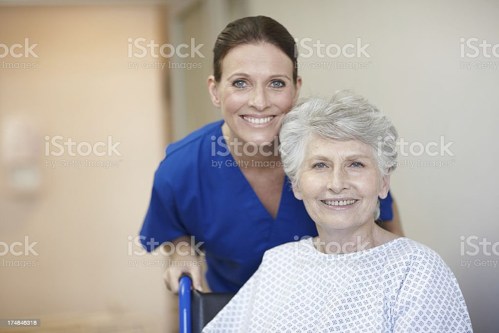Showing her patients the utmost care royalty-free stock photo